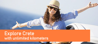 Explore Crete care-free with unlimited kilometeres